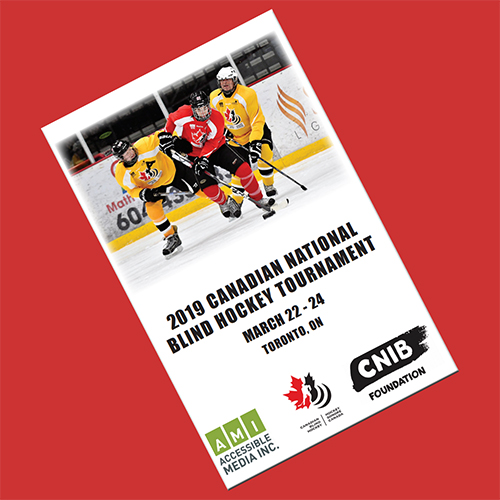 Canadian Blind Hockey Event Program